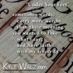 Under Your Feet lyrics